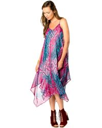 Wendy Bellissimo - Maternity Printed Handkerchief-hem Dress - Lyst
