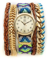 Sara Designs - Bright Woven Magenetic Watch - Lyst
