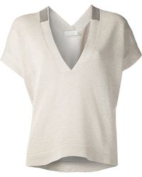 Brunello Cucinelli Monili Knit Top - Lyst