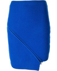 Opening Ceremony Ribbed Zip Detail Skirt - Lyst