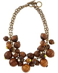 Lela Rose - Wooden Bauble Bib Necklace - Lyst