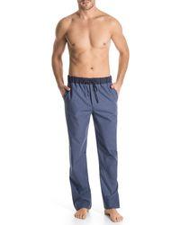 Hanro Woven Check Print Lounge Pants - Lyst