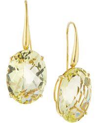 Roberto Coin - 18k Lemon Quartz Drop Earrings - Lyst