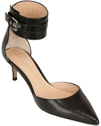 Gianvito Rossi 55mm Belted Leather Pumps - Lyst