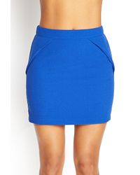 Forever 21 Pleated Crepe Mini Skirt - Lyst