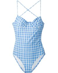 Marc By Marc Jacobs Checked Swimsuit - Lyst