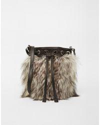 Echo - Faux Fur Cross Body Bag - Lyst