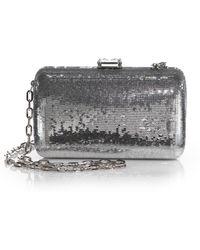 prada silver clutch