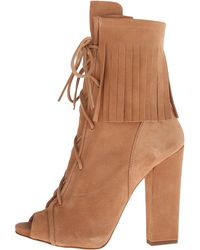 Christian louboutin Beige Leather and Mesh Nikita 100 Lace-up ...