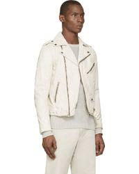 Diesel Off_White Leather L_Umenirok Jacket - Lyst