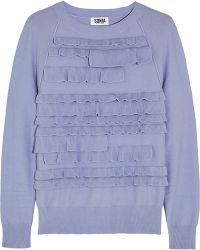 Sonia By Sonia Rykiel Tiered Knitted Sweater - Lyst