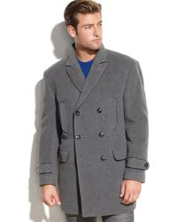 Calvin Klein Solid Double-breasted Peacoat - Lyst