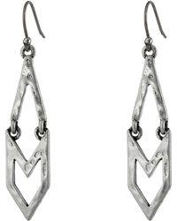 Lucky Brand Linear Geo Earrings - Lyst