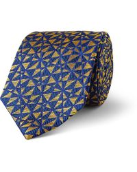 Turnbull & Asser Geometricpatterned Wovensilk Tie - Lyst