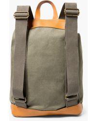 Mango | Contrast-appliqué Canvas Backpack | Lyst