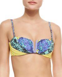 Maaji Sunny Sunlits Bandeau Swim Top  Reversible Swim Bottoms - Lyst