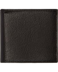 Alexander McQueen Black Micrograin Leather Heroic Billfold Wallet - Lyst