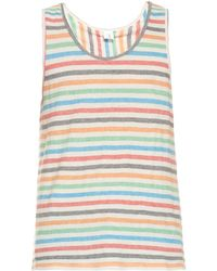 Robinson Les Bains - Striped Cotton-blend Jersey Vest - Lyst