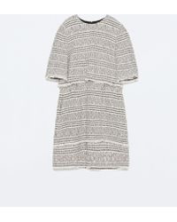 Zara Printed Layer Dress - Lyst