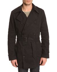 Filippa K Bryan Navy Blue Trench Coat - Lyst