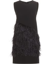 McQ by Alexander McQueen Feather-Embellished Crepe Dress - Lyst
