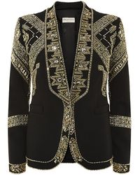 Emilio Pucci Embellished Wool-blend Jacket - Lyst