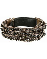 Goti Leather Bracelet With Diamonds - Lyst