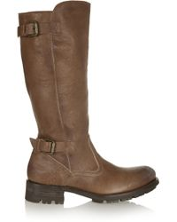 NDC - Courchevel Shearling-lined Textured-leather Boots - Lyst