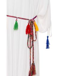 Pia Pauro - Embroidered Caftan With Tassel Belt - Lyst
