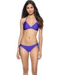 Shoshanna Blue Bikini Top - Klein Blue - Lyst