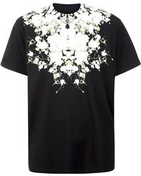 Givenchy Black Flower T-Shirt - Lyst