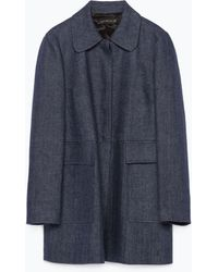 Zara Peter Pan Collar Coat - Lyst
