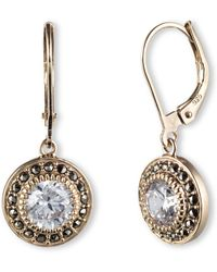 Judith Jack - Marcasite Drop Earrings - Lyst