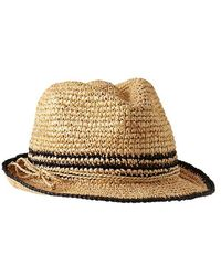Gap Stripe Straw Fedora - Lyst