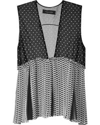 Thakoon Sleeveless V Neck Top - Lyst