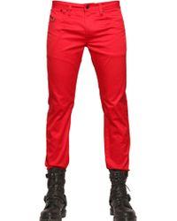 Diesel 17cm Shiny Cotton Gabardine Jeans - Lyst