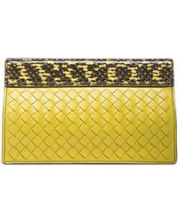 Bottega Veneta Python Folded Clutch - Lyst