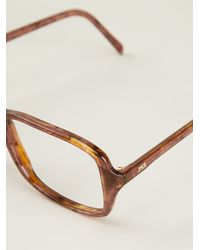 Yves Saint Laurent Vintage Tortoise-shell Tone Glasses - Lyst