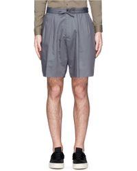 Ports 1961 - Pleat Front Cotton-silk Shorts - Lyst