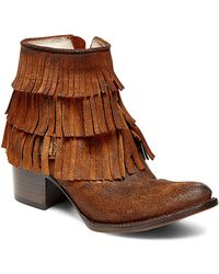 Freebird by Steven | Belle Fringed Suede Ankle Boots | Lyst