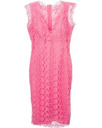 Ermanno Scervino Fitted Lace Dress - Lyst