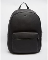 Armani Jeans - Leather Backpack - Lyst