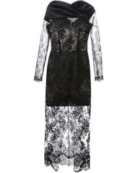 Alessandra Rich Layered Lace Dress - Lyst