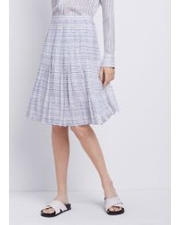 Vince Blurred Lines Pleated Skirt - Lyst