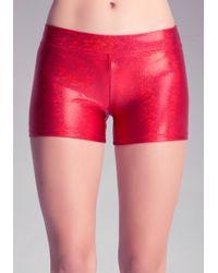 Bebe Sport Iridescent Boy Shorts - Lyst