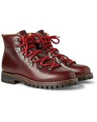 Car Shoe Leather Lace-up Boots - Lyst