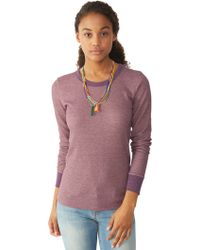 Alternative Apparel Cozy Thermal Top - Lyst