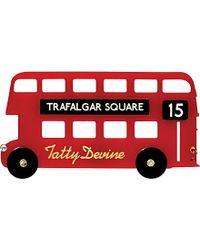 Tatty Devine - London Bus Brooch - For Women - Lyst