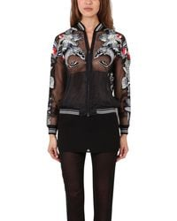 3.1 Phillip Lim Tattoo Embroidered Organza Jacket - Lyst