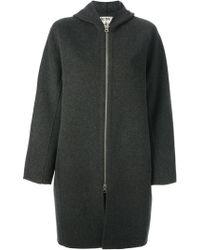 Acne Studios Gray Oversized Coat - Lyst